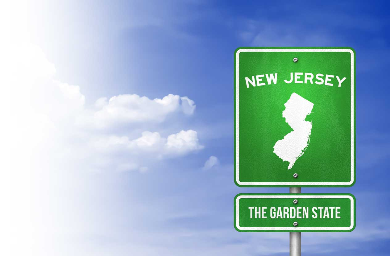 highway sign for NJ, garden state -  insurance coverage agency cliffside park new jersey